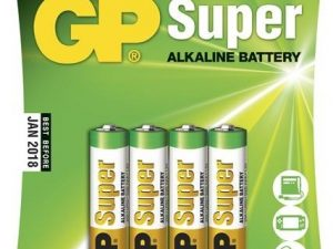 GP Batterier Super Alkaline AAA, LR03, 1.5V, 4-pack-0